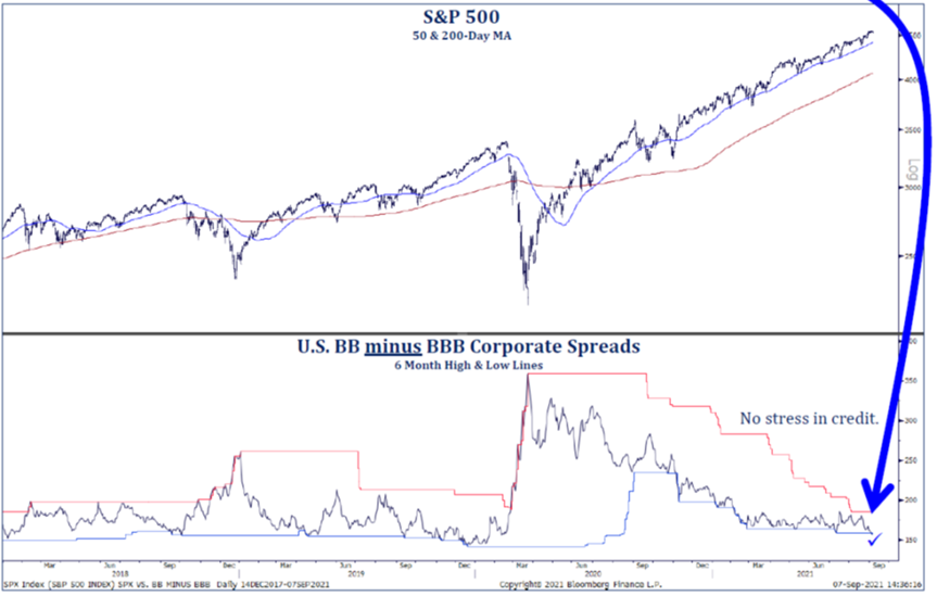 S&P 500 and Corporate Spreads   Mpartners Vermogensbeheer